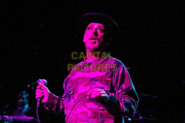 PHILADELPHIA, PA - APRIL 18 : Boy George performs the opening night of his North American tour at Theater Of The Living Arts in Philadelphia, Pa on April 18, 2014 <br /> CAP/MPI/MPI09<br /> &copy;MPI09/MPI/Capital Pictures