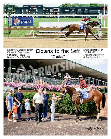 Clowns to Left winning at Delaware Park on 7/30/14
