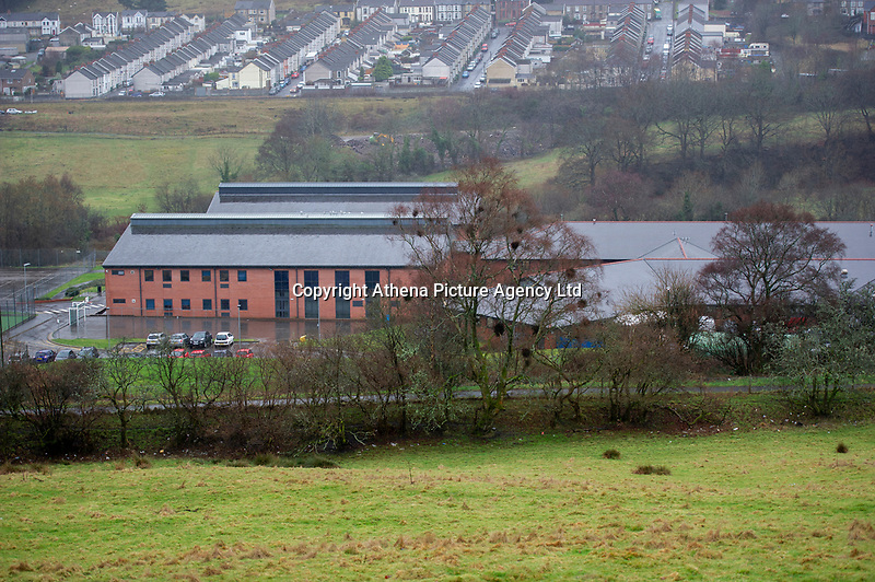 "Pictured: A general view of Idris Davies School in Abertysswg in the Rhymney Valley, south Wales, UK. Friday 18 January 2019<br /> <br /> Re: Schoolboy Troy Wheaton, 11, was left needing nine stitches in his tongue following an altercation at Idris Davies School in Abertysswg in the Rhymney Valley, south Wales, but he hasn't been back since January 14 after he was left ""bleeding and crying.""<br /> His father Matthew Wheaton, 34, is angry because he says no one from the school let them know what had happened.<br /> Mr Wheaton was shopping with his wife Kathryn, 33, where on their way back from shopping when they received a phone call from Kathryn's mother.<br /> Mr Wheaton said: ""Kathryn's niece was in school and said something had happened with Troy and his mouth was bleeding. We had been hearing things through the family.<br /> ""We were going to ring the school when our older daughter said he had been in some sort of fight and his mouth was bleeding. Not a single person or member of staff from the school rang us."" he added."