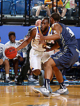 BROOKINGS, SD - NOVEMBER 3:  Tevin King 2 from South Dakota State drives against Jamall Taylor #3 from SD School of Mines in the first half of their exhibition game Thursday evening at Frost Arena in Brookings. (Photo by Dave Eggen/Inertia)