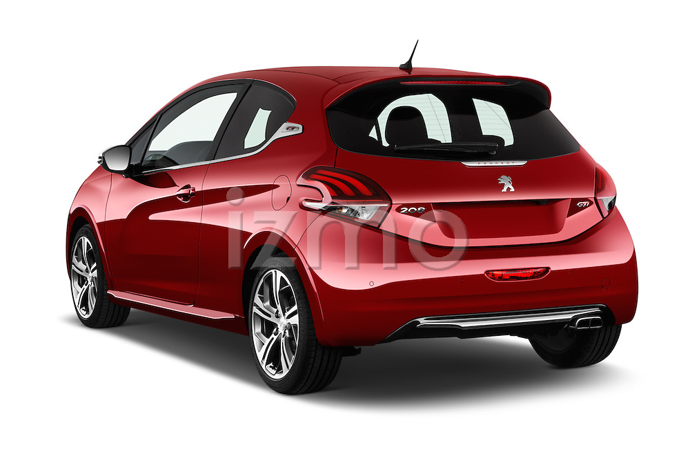 Car pictures of rear three quarter view of 2016 Peugeot 208 GTI 3 Door Hatchback 2WD Angular Rear