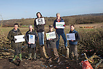 On Sunday 27 January, senior staff from six major environment and conservation groups will visit the Combe Haven valley, site of the planned Bexhill to Hastings Link Road..(left to  right Steven Joseph campaign for better Transport , Chris Corrigan RSPB , Stephanie Hilborne Wildlfie Trusts. Andy Atkins FOE, John Sauven Greenpeace,  Ralph Smyth CPRE )..The heads of Greenpeace, Friends of the Earth, The Wildlife Trusts and the Campaign for Better Transport will join with senior colleagues from RSPB and Campaign to Protect Rural England (CPRE) to see first-hand the area threatened by the planned road and the impact contractors works have already caused. They will also meet protestors taking part in the high profile campaign against its construction and highlight the impacts and threats from the Government's forthcoming roads strategy.