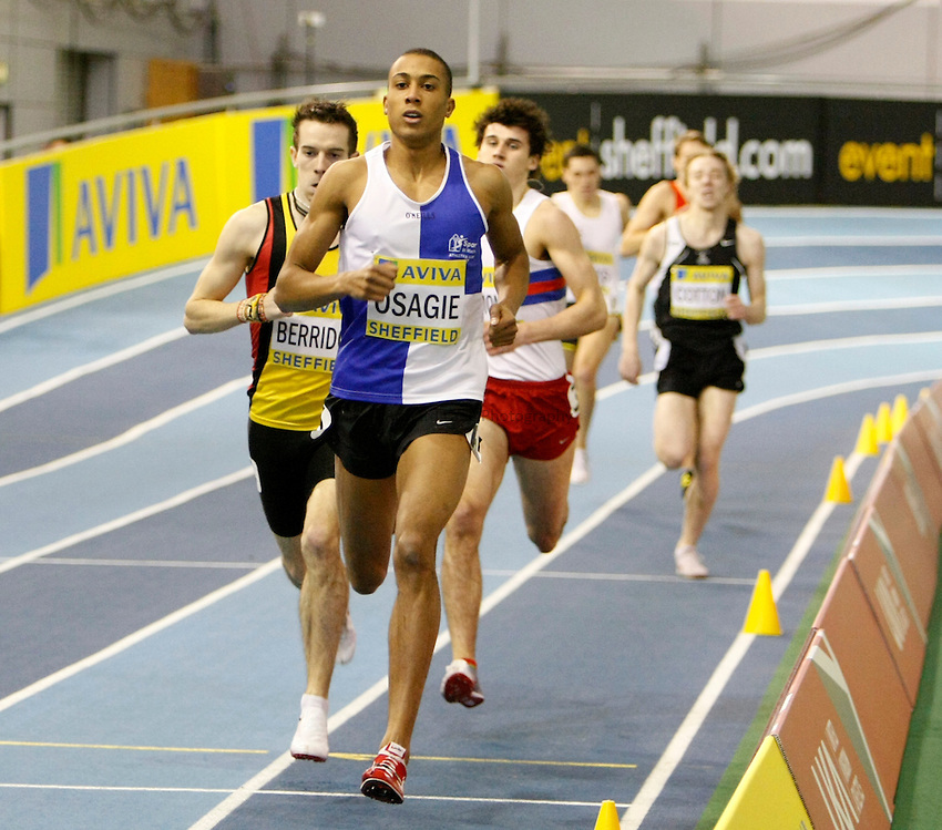 Photo: Richard Lane/Richard Lane Photography. Aviva World Trials & UK Championships. 13/02/2010. Men's 800m heat.