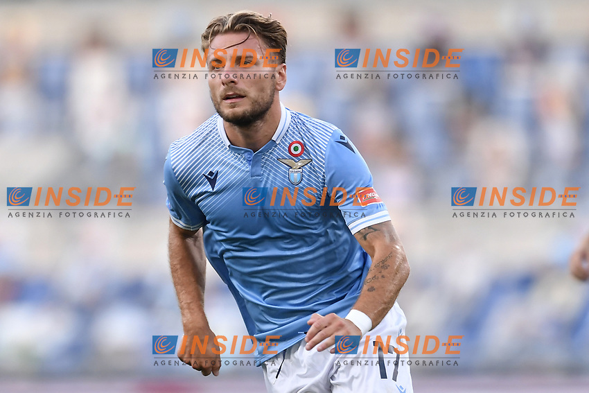 Ciro Immobile of Lazio<br /> during the Serie A football match between SS Lazio  and Brescia Calcio at stadio Olimpico in Roma (Italy), July 29th, 2020. Play resumes behind closed doors following the outbreak of the coronavirus disease. <br /> Photo Antonietta Baldassarre / Insidefoto