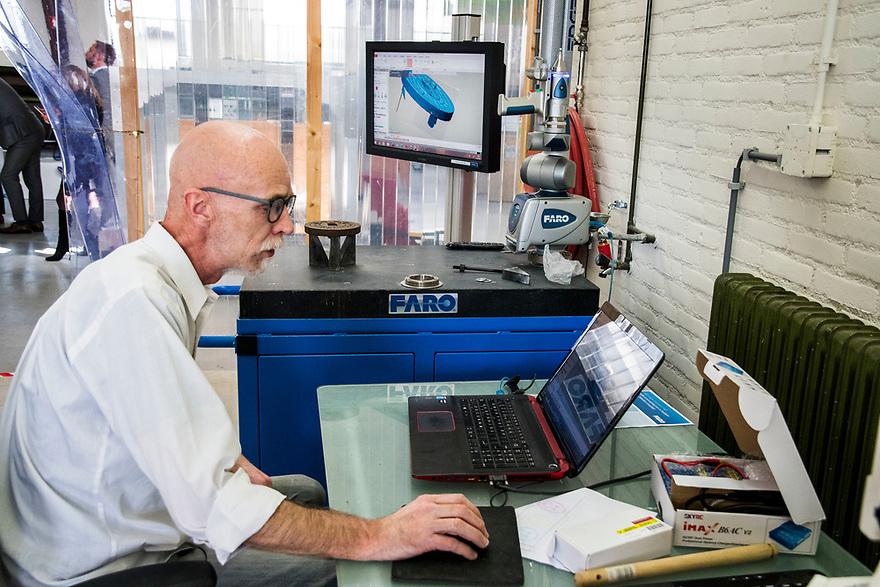 Nederland, Haarlem, 20170406<br /> 3D Makers Zone. Innovatief bedrijf waar voornamelijk met 3 D printers wordt gewerkt. <br /> <br /> Foto: (c) Michiel Wijnbergh