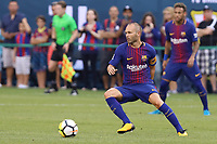 EAST RUTHERFORD, USA, 22.07.2017 - JUVENTUS-BARCELONA - Andrés Iniesta do Barcelona durante partida contra Juventus valido pela  International Champions Cup 2017 no MetLife Stadium na cidade de East Rutherford, New Jersey. (Foto: Vanessa Carvalho/Brazil Photo Press)