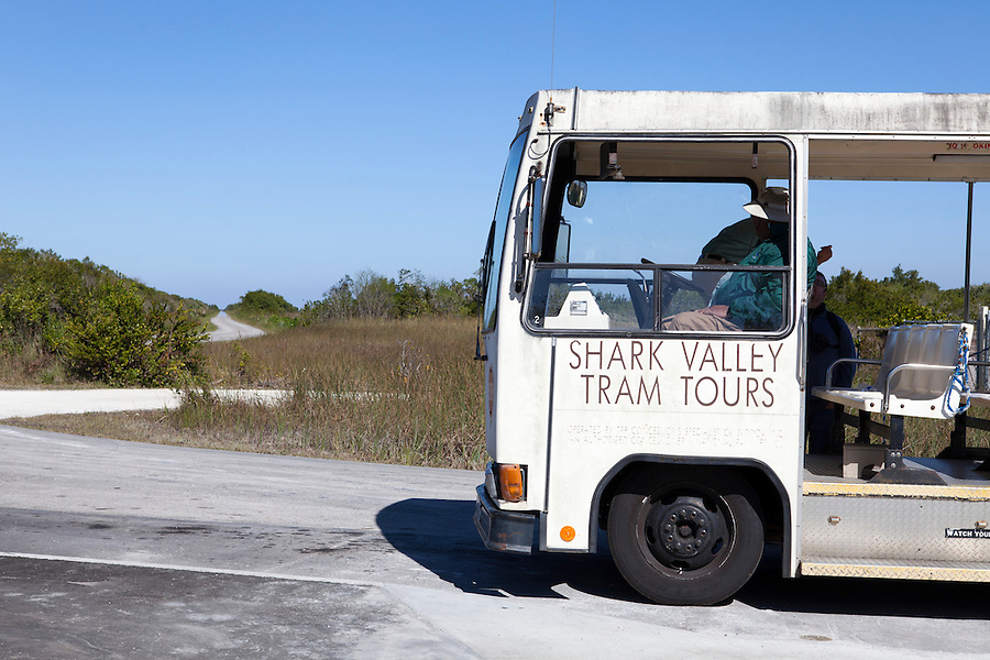 Tourism in Shark Valley area, Everglades National Park, Florida, USA