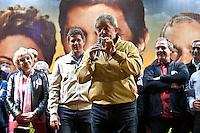 ATEN&Ccedil;&Atilde;O EDITOR: FOTO EMBARGADA PARA VE&Iacute;CULOS INTERNACIONAIS. -&nbsp;SAO PAULO, SP, 29 DE SETEMBRO 2012 - ELEI&Ccedil;&Otilde;ES 2012 - &nbsp;FERNANDO HADDAD -O Candidato a prefeitura de Sao Paulo Fernando haddad participou de um com&iacute;cio na noite deste s&aacute;bado em Sao Miguel Paulista na zona leste da cidade. No com&iacute;cio esteve presente o es- presidente Luiz Inacio lula da silva, ministra da Cultura Marta Suplicy e o Ministro da educa&ccedil;&atilde;o Aloisio Mercadante. Na foto marta suplicy, fernando haddad, lula e aloisio mercadante<br /> <br /> Local: Pra&ccedil;a Padre Aleixo Monteiro Mafra<br /> VAGNER CAMPOS/ BRAZIL PHOTO PRESS