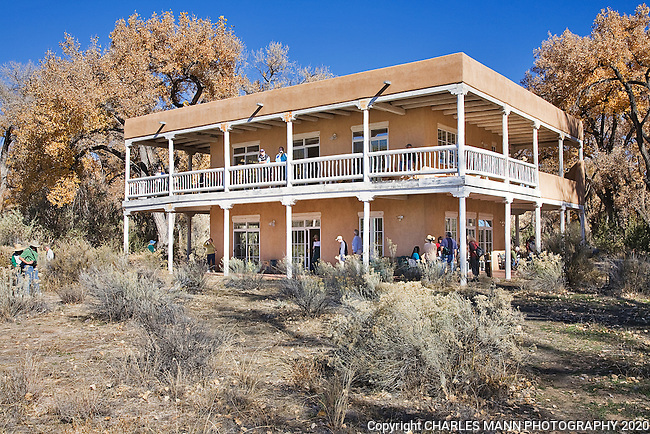 Los Luceros is a grand historical hacienda and home site on the Rio Grande River in the Espanola Valley near the village of Alcalde, New Mexico