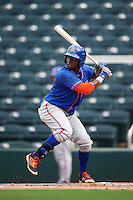 St. Lucie Mets right fielder John Mora (4) at bat during a game against the Fort Myers Miracle on August 9, 2016 at Hammond Stadium in Fort Myers, Florida.  St. Lucie defeated Fort Myers 1-0.  (Mike Janes/Four Seam Images)