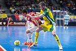 Jaen P. Interior Mauricio Guterres and Rios R. Zaragoza Jorge Tabuenca during Semi-Finals Futsal Spanish Cup 2018 at Wizink Center in Madrid , Spain. March 17, 2018. (ALTERPHOTOS/Borja B.Hojas)