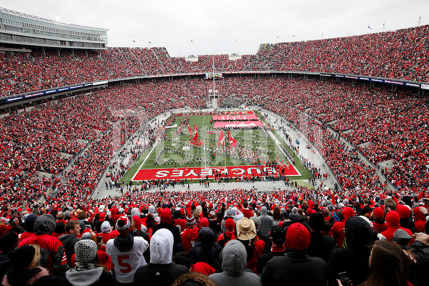 Ohio State Buckeye fans against Michigan Wolverines at Ohio Stadium on November 24, 2012.  (Columbus Dispatch photo by Adam Cairns)