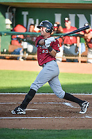 Ryan Dale (22) of the Idaho Falls Chukars at bat against the Ogden Raptors in Pioneer League action at Lindquist Field on June 22, 2015 in Ogden, Utah. The Chukars defeated the Raptors 4-3 in 11 innings.  (Stephen Smith/Four Seam Images)