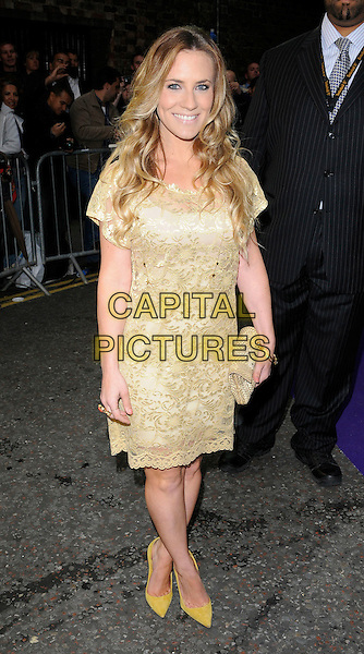 Georgie Thompson .attending the WTA Tour Pre-Wimbledon Party at The Roof Gardens, Kensington, London, England, UK, .16th June 2011.full length beige gold lace dress clutch bag shoes .CAP/CAN.©Can Nguyen/Capital Pictures.
