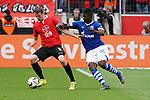 11.05.2019, BayArena, Leverkusen, GER, 1. FBL, Bayer 04 Leverkusen vs. FC Schalke 04 ,<br />  <br /> DFL regulations prohibit any use of photographs as image sequences and/or quasi-video<br /> <br /> im Bild / picture shows: <br /> Breel Embolo (FC Schalke #36), im Zweikampf gegen  Lars Bender (Leverkusen #8), <br /> <br /> Foto &copy; nordphoto / Meuter