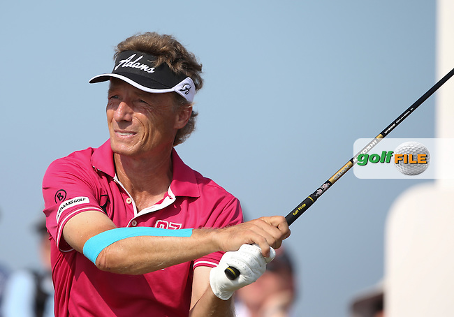 Bernhard Langer (GER) during Round One of the 2014 Senior Open Championship presented by Rolex from Royal Porthcawl Golf Club, Porthcawl, Wales. Picture:  David Lloyd / www.golffile.ie