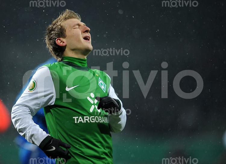 FUSSBALL   DFB POKAL   SAISON 2009/2010  VIERTELFINALE Werder Bremen - 1899 Hoffenheim                 09.02.2010 Marko MARIN (SV Werder Bremen)