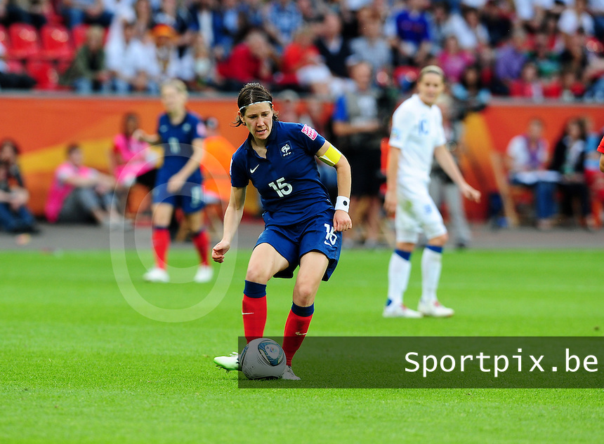 Fifa Women's World Cup Germany 2011 : England - France - at Leverkusen : Elise Bussaglia.foto DAVID CATRY / Vrouwenteam.be