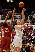 STANFORD, CA - JANUARY 29:  Sarah Boothe of the Stanford Cardinal during Stanford's 81-53 win over the USC Trojans on January 29, 2009 at Maples Pavilion in Stanford, California.