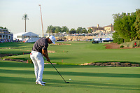 Thorbjorn Olesen (DEN) on the 18th fairway during the 1st round of the DP World Tour Championship, Jumeirah Golf Estates, Dubai, United Arab Emirates. 15/11/2018<br /> Picture: Golffile | Fran Caffrey<br /> <br /> <br /> All photo usage must carry mandatory copyright credit (&copy; Golffile | Fran Caffrey)