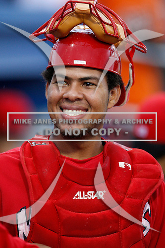 July 17, 2009:  Catcher Ivan Castro of the Batavia Muckdogs during a game at Dwyer Stadium in Batavia, NY.  The Muckdogs are the NY-Penn League Short-Season Class-A affiliate of the St. Louis Cardinals.  Photo By Mike Janes/Four Seam Images
