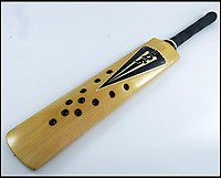 BNPS.co.uk (01202 558833)<br /> Pic JohnGoodwin/BNPS<br /> <br /> Sunny Gavaskar's revolutionary Fearnley bat from the controversial 1979 India tour to England - the bat was banned after the Lords Test.<br /> <br /> Legendary bat maker is selling up his historic collection of willow wonders.<br /> <br /> A collection of cricket bats that were used by some of finest players of all-time have been put up for sale by the man who crafted them with his own hands.<br /> <br /> Duncan Fearnley, 79, is best known for producing bats for legendary England all-rounder Ian Botham throughout his illustrious career.<br /> <br /> He also created hand-made blades for the likes of Viv Richards, Clive Lloyd and Indian hero Sunil Gavaskar, all featuring his famous 'three stump' logo.<br /> <br /> At the end of a season the bats were often donated back to him by generous players and he has now decided to part with a number of them.
