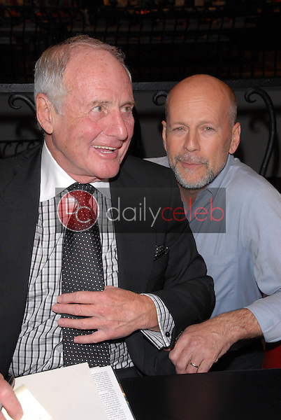 """Jerry Weintraub and Bruce Willis<br /> at a celebration of Jerry Weintraub's New Book """"When I Stop Talking You'll Know I'm Dead,"""" Barney's New  York, Beverly Hills, CA. 05-18-10<br /> David Edwards/Dailyceleb.com 818-249-4998"""
