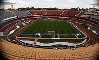 SÃO PAULO, SP,06 MAIO 2012 - CAMPEONATO PAULISTA - GUARANI x SANTOS FINAL Vista do Estádio Cicero Pompeu de Toledo  (Morumbi), na região sul da capital paulista na tarde deste domingo (06). (FOTO: ALE VIANNA -BRAZIL PHOTO PRESS).