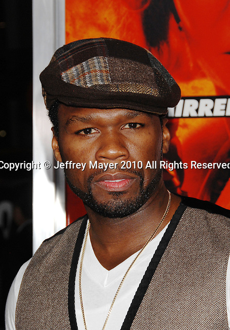"HOLLYWOOD, CA. - October 11: Curtis ""50 Cent"" Jackson arrives at the ""Red"" Los Angeles Screening at Grauman's Chinese Theatre on October 11, 2010 in Hollywood, California."