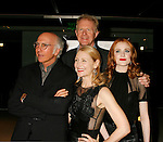 "WEST HOLLYWOOD, CA. - June 08: (L-R) Actors Larry David, Patricia Clarkson, Ed Begley Jr. and Evan Rachel Wood arrive at the Los Angeles premiere of ""Whatever Works"" at the Pacific Design Center on June 8, 2009 in West Hollywood, California."