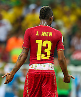 Jordan Ayew of Ghana wears his shorts low revealing his underwear