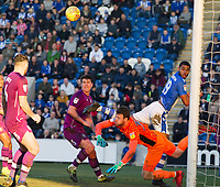 Adam Collin of Carlisle United makes the save but only pushes the ball into the danger area from where Frankie Kent equalises during Colchester United vs Carlisle United, Sky Bet EFL League 2 Football at the JobServe Community Stadium on 23rd February 2019
