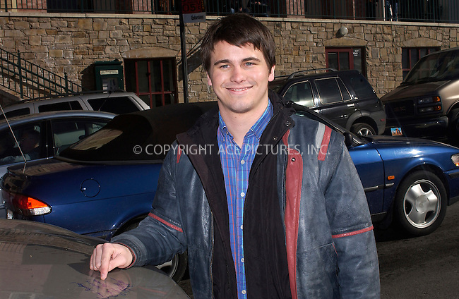 WWW.ACEPIXS.COM . . . . .  ....PARK CITY, UTAH, JANUARY 21, 2005....Jason Ritter points to his name after signing the hood of a GMC truck on Main Str. at hte Sundance Film Festival.....Please byline: Ian Wingfield - ACE PICTURES..... *** ***..Ace Pictures, Inc:  ..Alecsey Boldeskul (646) 267-6913 ..Philip Vaughan (646) 769-0430..e-mail: info@acepixs.com..web: http://www.acepixs.com