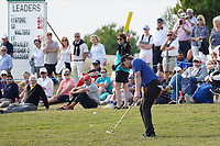 Eddie Pepperell (ENG) on the 17th during Round 4 of the Portugal Masters, Dom Pedro Victoria Golf Course, Vilamoura, Vilamoura, Portugal. 27/10/2019<br /> Picture Andy Crook / Golffile.ie<br /> <br /> All photo usage must carry mandatory copyright credit (© Golffile | Andy Crook)