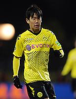 FUSSBALL   DFB POKAL   SAISON 2011/2012   VIERTELFINALE Holstein Kiel - Borussia Dortmund                          07.02.2012 Shinji Kagawa (Borussia Dortmund)