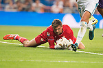 Fiorentina's Barttomiej Dragowski during XXXVIII Santiago Bernabeu Trophy at Santiago Bernabeu Stadium in Madrid, Spain August 23, 2017. (ALTERPHOTOS/Borja B.Hojas)
