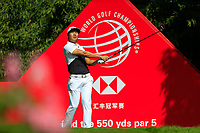 Xinjun Zhang (CHN) on the 2nd tee during the final round at the WGC HSBC Champions 2018, Sheshan Golf CLub, Shanghai, China. 28/10/2018.<br /> Picture Fran Caffrey / Golffile.ie<br /> <br /> All photo usage must carry mandatory copyright credit (&copy; Golffile | Fran Caffrey)