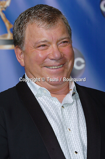 William Shatner backstage at the 56th Emmy Awards at the Shrine Auditorium in Los Angeles. September 19, 2004.