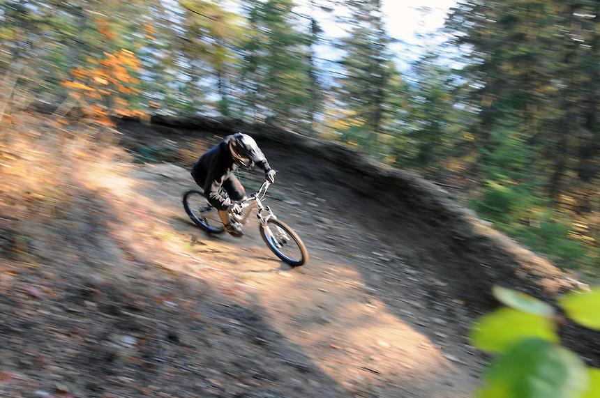 "Lukas Schimdt on ""The Monster"". Downhill mountain biking in Kaslo, BC"