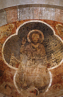 Europe/France/Midi-Pyrénées/09/Ariège/Couserans/St-Lizier: Fresques romanes du choeur - Christ en majesté