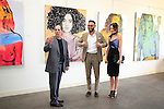 SANTA MONICA - JUN 25: Andrew Weiss, Simon Phan, Mallory Jansen at the David Bromley LA Women Art Exhibition opening reception at the Andrew Weiss Gallery on June 25, 2016 in Santa Monica, California
