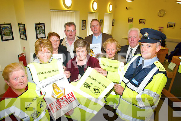 BE SEEN: Launching the local Be Safe, Be Seen campaign at Milltown Credit Union on Thursday were members of the local Credit Union and local Community Alert. Front l-r: Mary Prendergast, Marian O'Grady, Mary O'She, Bridie Savage, Garda Michael Sheehy. Back, l-r: Mary O'Regan, Liam Hurley, George Kelly, Tony Powell.   Copyright Kerry's Eye 2008