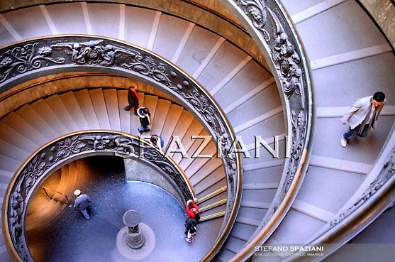 Vatican Museum's spiral ramp Giuseppe Momo in 1932, photo 2011.