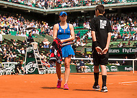 ALIZE CORNET (FRA)<br /> <br /> Tennis - French Open 2015 -  Roland Garros - Paris -  ATP-WTA - ITF - 2015  - France <br /> <br /> &copy; AMN IMAGES