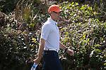 April 14, 2014; Bremerton, WA, USA; Pepperdine Waves mens golf head coach Michael Beard during the WCC Golf Championships at Gold Mountain Golf Club.