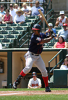 July 14, 2003:  Lamont Matthews of the Pawtucket Red Sox during a game at Frontier Field in Rochester, New York.  Photo by:  Mike Janes/Four Seam Images