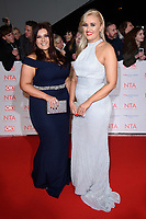Ellie and Izzi Warner<br /> arriving for the National Television Awards 2018 at the O2 Arena, Greenwich, London<br /> <br /> <br /> ©Ash Knotek  D3371  23/01/2018