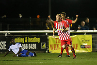 Scoot Heard celebrates his goal for Folkestone during Enfield Town vs Folkestone Invicta, BetVictor League Premier Division Football at the Queen Elizabeth II Stadium on 16th November 2019