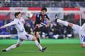 Arnor Sveinn Adalsteinsson (ISL), Jungo Fujimoto (JPN),.FEBRUARY 24, 2012 - Football / Soccer :.Kirin Challenge Cup 2012 match between Japan 3-1 Iceland at Nagai Stadium in Osaka, Japan. (Photo by Jinten Sawada/AFLO)