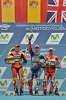 Aragon (Spagna) 28/09/2014 - gara Moto GP / foto Luca Gambuti/Image Sport/Insidefoto<br /> nella foto: Aleix Espargaro-Jorge Lorenzo-Cal Crutchlow